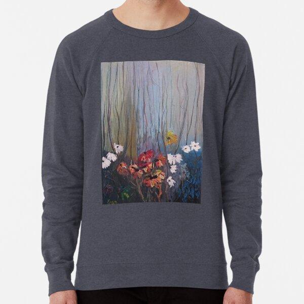 Flowers in forest Lightweight Sweatshirt