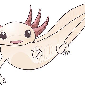 Cute Adorable Axolotl Original Decal Design Salamander Amphibian by Inklingsofgrace