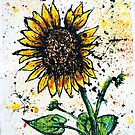 Sunflower Painting by Sean Poole