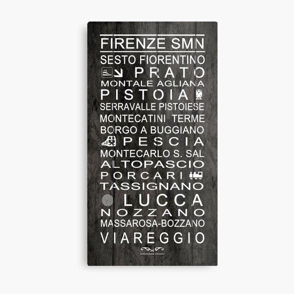 Schede di destinazione - Destinazione Ferrovia Viareggio Metal Print