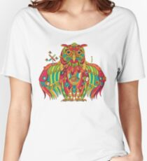 Owl, cool art from the AlphaPod Collection Women's Relaxed Fit T-Shirt