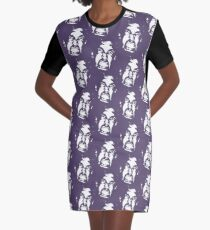 In your face Graphic T-Shirt Dress