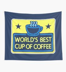 """World's Best Cup of Coffee"" - as seen on ""Elf"" Wall Tapestry"
