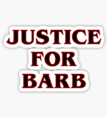 Stranger Things Justice For Barb Art Sticker