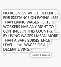 minimum wage Sticker