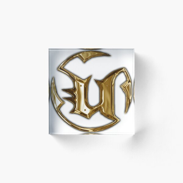 Unreal Tournament Gold Logo Acrylic Block