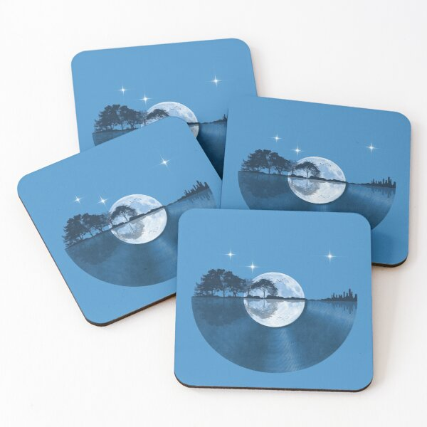 Nature Guitar Record Coasters (Set of 4)