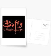 Buffy The Vampire Slayer Logo Postcards