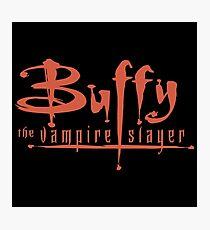Buffy The Vampire Slayer Logo Photographic Print