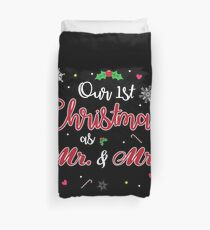 Our First Christmas as Mr and Mrs Gift For Just Married Newly Weds T-Shirt Sweater Hoodie Iphone Samsung Phone Case Coffee Mug Tablet Case Duvet Cover