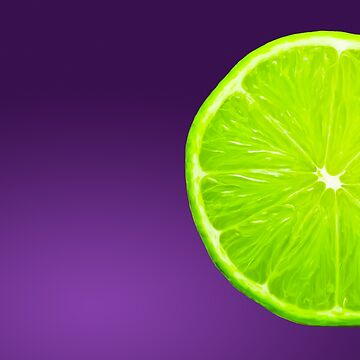 Lime on Purple by Zeppy