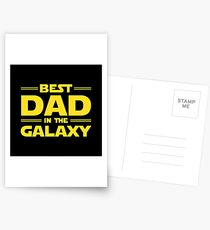 Best Dad in The Galaxy Postcards