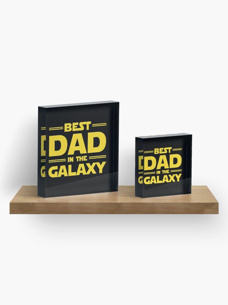 Vista alternativa de Bloque acrílico El mejor papá en la galaxia