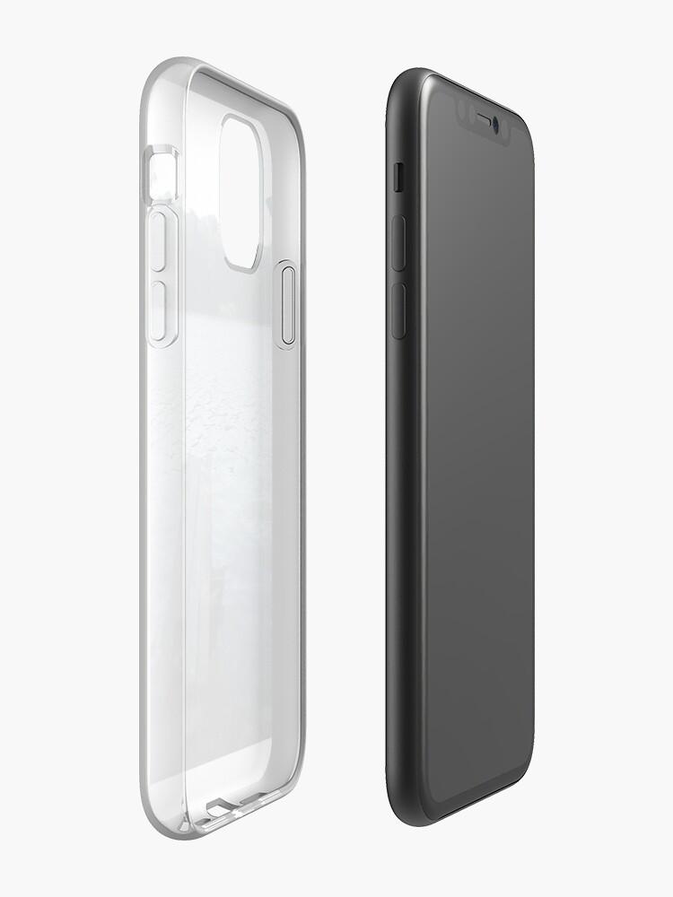 Coque iPhone «Lac bleu», par paneele