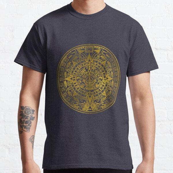 Gold  Aztec Inca Mayan Calendar Classic T-Shirt