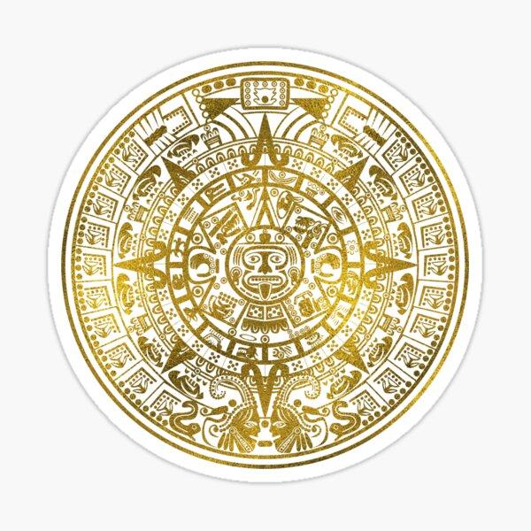 Gold  Aztec Inca Mayan Calendar Sticker