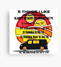 5 Things T4 Canvas Print