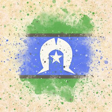 Watercolour/grunge Torres Strait Islands Flag by Joey27