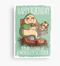 A Year Closer to owning a Mobility Scooter Metal Print