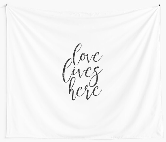 Love lives here bedroom decorhome decor wall artlove sign quote