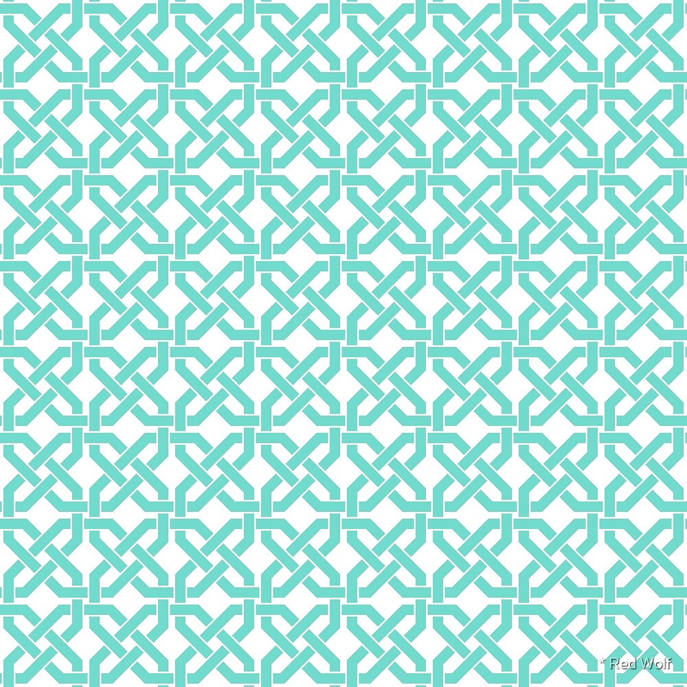 Geometric Pattern: Octagon Knot: Blue by * Red Wolf