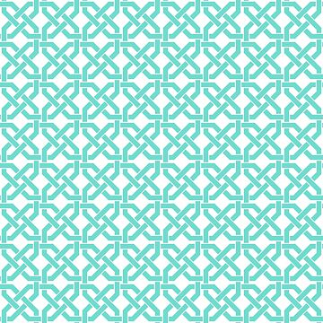 Geometric Pattern: Octagon Knot: Blue by redwolfoz
