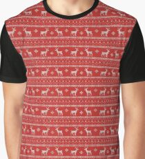 Christmas reindeer Graphic T-Shirt