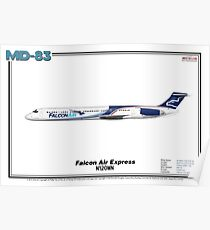 McDonnell Douglas MD-83 - Falcon Air Express (Art Print) Poster