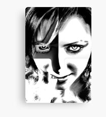 Black and White eyesight Canvas Print