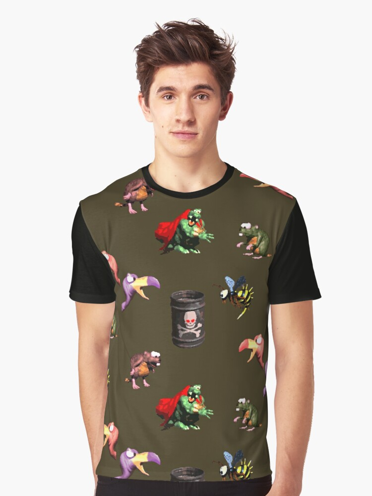 Donkey Kong Country - Bosses Graphic T-Shirt Front