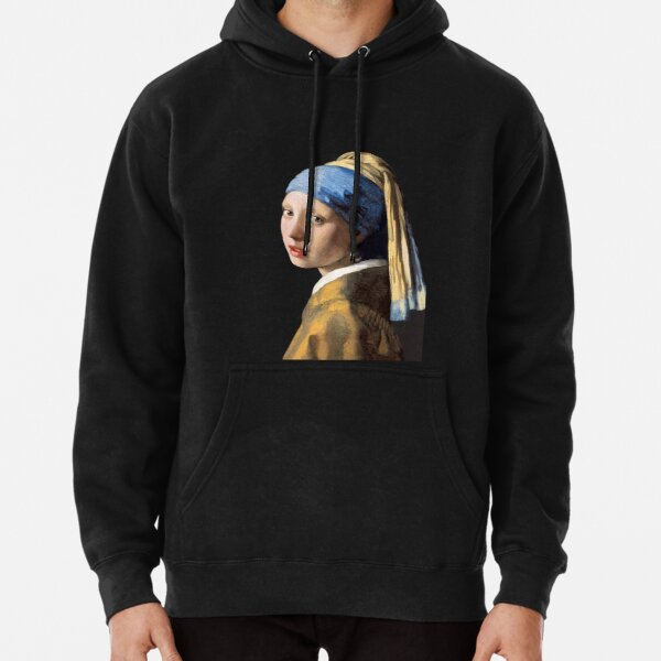 Vermeer's Girl with a Pearl Earring Pullover Hoodie