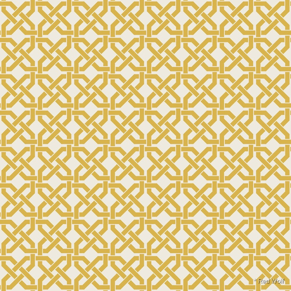 Geometric Pattern: Octagon Knot: Yellow Light by * Red Wolf