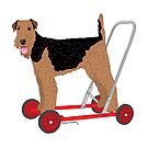 Got me some wheels Airedale! by Louisa Houchen