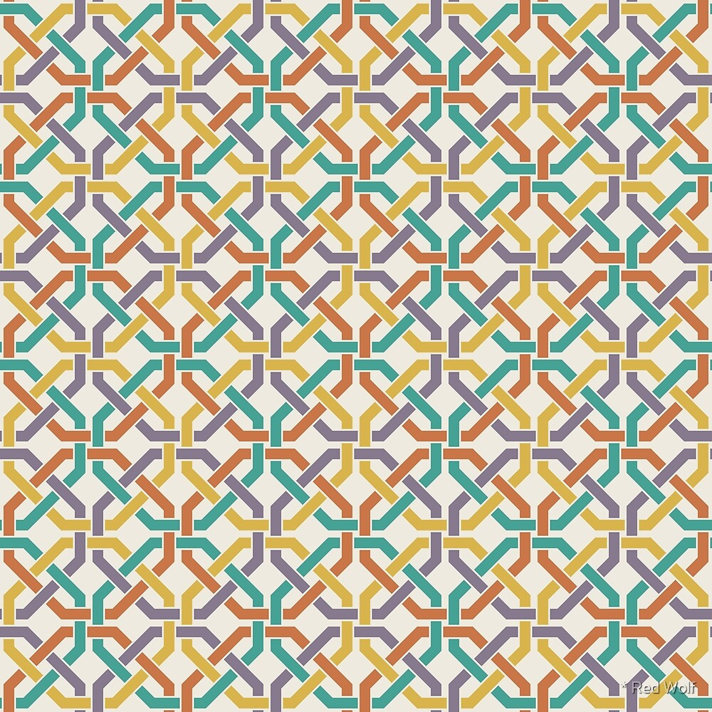 Geometric Pattern: Octagon Knot: Rainbow Light by * Red Wolf