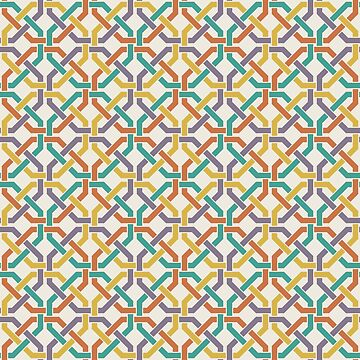 Geometric Pattern: Octagon Knot: Rainbow Light by redwolfoz