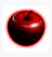 Dark Shiny Red Candy Apple Photographic Print