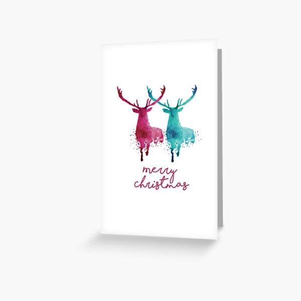 Christmas Series - Deer Red Greeting Card
