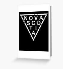 Stylish Nova Scotia Greeting Card