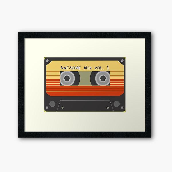Awesome Mix Vol. 1 Cassette (K7) tape Framed Art Print