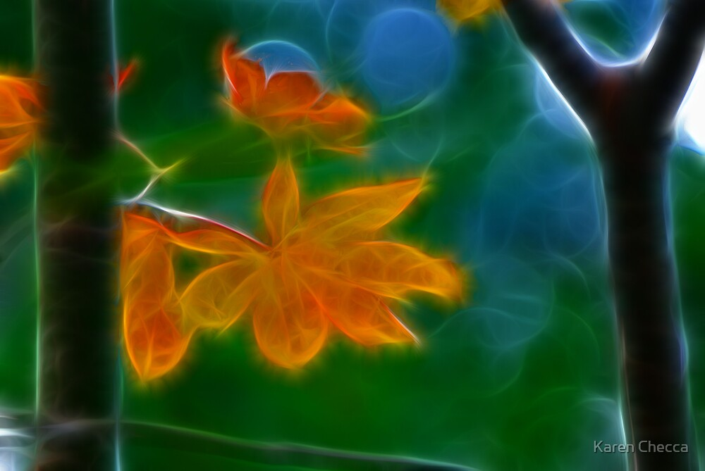 Leaf Fractaliousized by Karen Checca