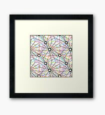 Psychedelic pattern in shades of gray Framed Print