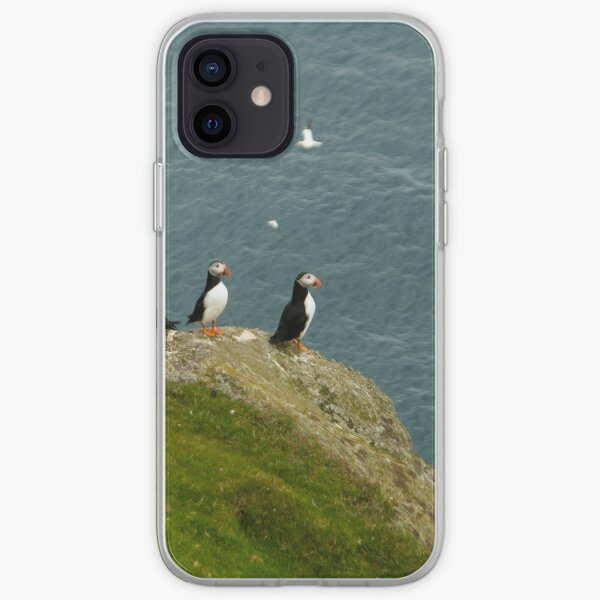 puffins at unst iPhone Soft Case