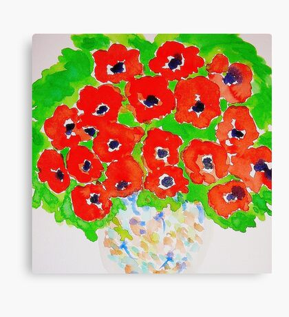 Bright Poppies  Canvas Print