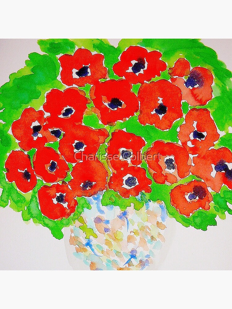 Bright Poppies  by charissecolbert