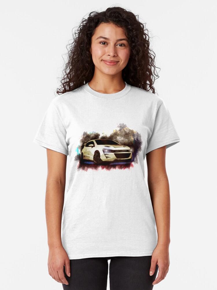 Alternate view of Exhood Tuning Car at Night 2 Classic T-Shirt