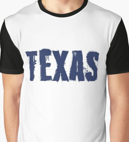 Texas State Grunge Letters Graphic T-Shirt