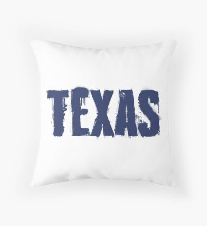 Texas State Grunge Letters Throw Pillow