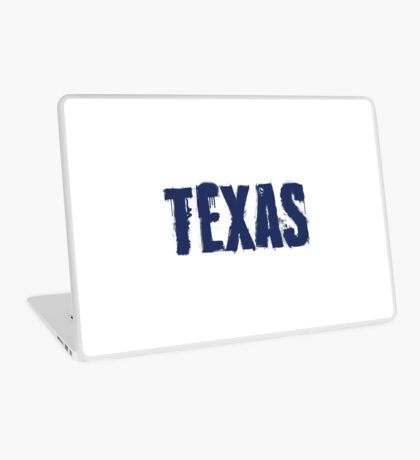 Texas State Grunge Letters Laptop Skin