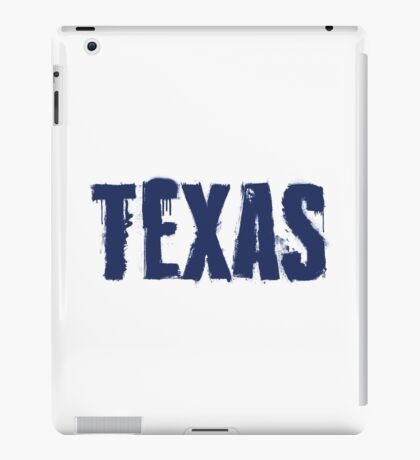 Texas State Grunge Letters iPad Case/Skin