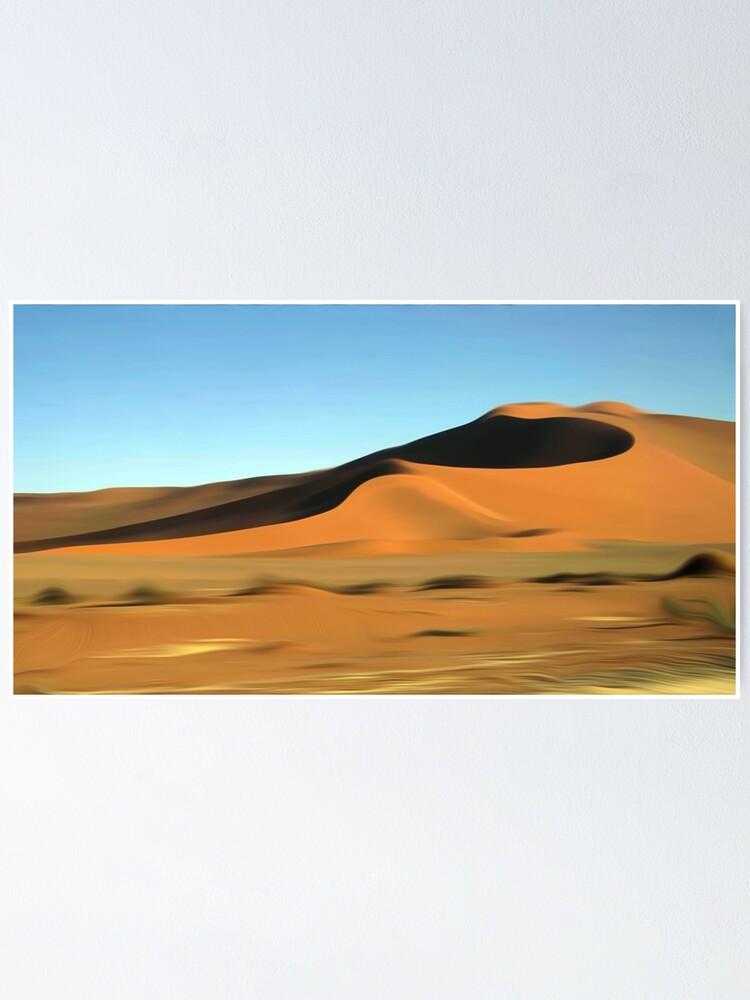 CANVAS Desert Dunes in Namibia Art print POSTER